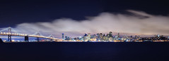 san francisco at night (andrew c mace) Tags: sanfrancisco longexposure panorama skyline night 35mm cityscape treasureisland financialdistrict coittower baybridge embarcadero transamerica hugin nikoncapturenx nikond90