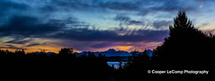 Sunset over Puget Sound (Cooper LeComp Photography) Tags: ocean trees sunset sea panorama water pretty pugetsound olympic mountans