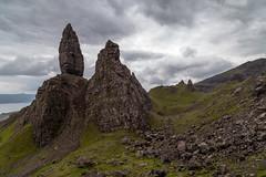 The Storr Landscape (Rudlin) Tags: old uk man canon landscape scotland spring day isleofskye cloudy unitedkingdom overcast portree 6d 24105 storr