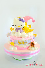 Hello Kitty Angel Cake (tessatinacakes) Tags: hello pink moon cute cakes cake angel hearts stars star purple philippines kitty best sanrio tessa tina fondant gumpaste