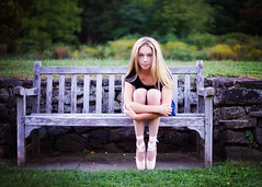 maddieDC1 (thebugsmommy) Tags: dancer ballet pointe girl park bench