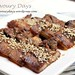 Grilled pork belly with black bean sauce