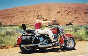 Harley Ride around Uluru