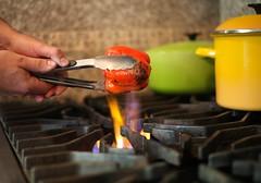 dinner tonight (catklein) Tags: cooking dinner recipe foodporn stove mmmm roasted foodie flanksteak redbellpeppers dinnertonight thegratersuremakessomesexybokeh