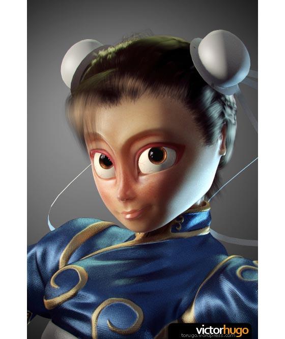 personaje hechos en 3D