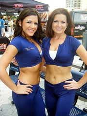 Charleyne & Abby (BuccaneerBoy) Tags: hot sexy beautiful june tampa fun dance football spring pretty cheerleaders dancers florida gorgeous arena babes stunning cheer lovely league afl channelside 2011 stpetetimesforum tampabaystorm