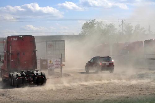 Dust Calgary yard