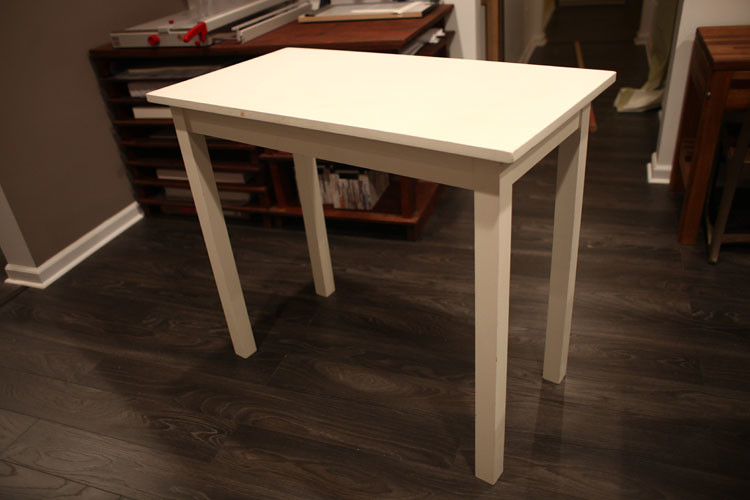 White Wood Work Table Pic#3
