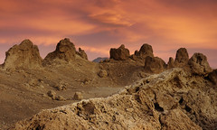 Otherwordly Trona (Marc Briggs) Tags: california clouds desert tufa pinnacles trona searleslake calciumcarbonate tronapinnacles californiadesertnationalconservationarea dsc004801e
