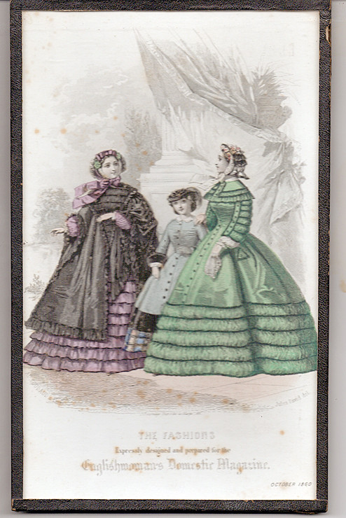 October 1860 Fashions from English Domestic Magazine