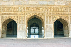 Three Arches, Agra Fort, India (MJ Reilly) Tags: india stone carved nikon arch agra arches ornate mughal agrafort d90