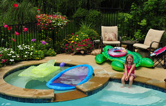 Summer Fun (Jeff Clow) Tags: summer vacation pool garden fun outdoors happy dallas texas joy expressions happiness emotions gapr