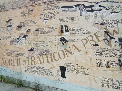 North Strathcona Wall Map (Strathcona, East Vancouver)