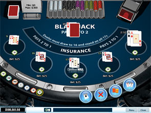 Blackjack 5 Hand game