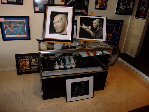 My second art exhibition held at ManCave Memorabilia the day of Mike Tyson