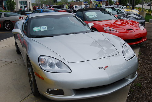 Line Of Corvettes Bill Jacobs Corvette Show 4 15 12 A