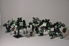 Pit Vipers - Company Shot (Mitten Ninja) Tags: 6 mobile lego pit frame orion serpent zero tabletop mecha legion mech vipers