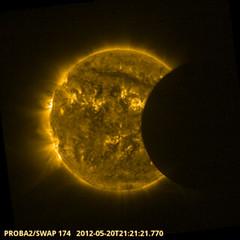 Proba-2 catches solar eclipse (europeanspaceagency) Tags: european agency esa solareclipse europeanspaceagency proba2