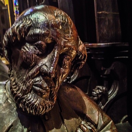 The Cathedral of Saint John the Divine #episcopal #cathedral #manhattan #nyc #carving #wood #saint #villain #hero #zero