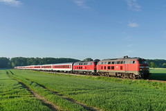 P1620658 (Lumixfan68) Tags: eisenbahn db bahn deutsche 218 züge loks cnl citynightline nachtzug baureihe dieselloks nachtzüge