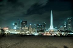Chicago After Dark # 14    (EXPLORE) (benchorizo) Tags: longexposure chicago nikon cityscape grantpark nightshots fountains buckinghamfountain chicagoist banias d90 benchorizo romeobanias