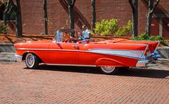 IMG_9248 (kz1000ps) Tags: orange classic chevrolet car boston architecture vintage construction realestate antique massachusetts air convertible chevy 1957 vehicle bel development