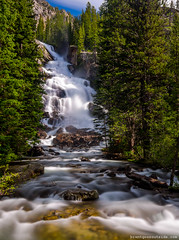 Hidden Falls (shortybabybrowneyes35) Tags: travel nature landscape waterfall nationalpark wyoming grandtetons