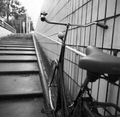 My bike again (Mark Dries) Tags: slr 120 6x6 film 50mm ukraine 150 mgp flektogon rodinal russian kiev60 adox adonal chs100 markguitarphoto