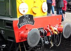 English Electric Type 1 D8059 (BR Class 20, 20059) (Stuart Axe) Tags: loco locomotive sheringham nnr northnorfolkrailway norfolk holt weybourne station train railway britishrailways rail railways england uk greatbritain unitedkingdom diesel englishelectric britishrail dieselgala gala 2014dieselgala weybournetractiongroup summerdieselgala2014 summerdieselgala d8059 20059 chopper class20 severnvalleyrailway guest guestloco guestlocomotive svr type1 thejollyfisherman headboard buffer buffers gb heritagerailway northnorfolk poppyline themidlandandgreatnorthernjointrailwaysociety worcestershire hamptonloade shropshire arley bridgnorth kidderminster steam gwr greatwesternrailway bewdley trains