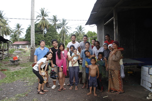 Group photo of the film crew and villagers who helped us