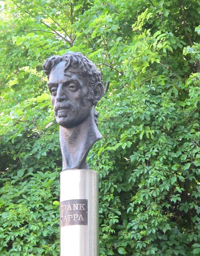 Frank Zappa monument in Vilnius, Lithuania