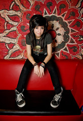 Christina Grimmie (noamgalai) Tags: portrait people musician hair official sitting album headshot sit singer backstage seated findme redbackground youtube noamgalai siteportraits christinagrimmie