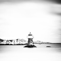 lighthouse (eskedahl) Tags: longexposure bw lighthouse norway norge highkey srlandet canon7d eskedahl