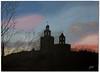 Atardecer (Isabel Jimenez R) Tags: atardecer cielo rosas monasterio azules amarillos santcugat