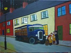 The Last Drop (Garg-oil) Tags: art painting landscape pub cityscape canvas lorry oil copper policeman leyland gargoil dray draymen