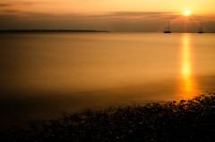 (Mark J Hall) Tags: longexposure sunset sea seascape clouds slowshutter april yachts 2012 gosport markhall stokesbay 35mmdx nikond7000 hitechreversegradfilter leesoftgradndfilter