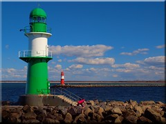 The harbor entrance of Warnemuende (Ostseetroll) Tags: harbor warnemnde balticsea ostsee warnemuende warnow