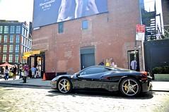 Diamond Cut (CarSpotter) Tags: nyc ny newyork black sports car italian nikon italia district sigma ferrari exotic nero supercar v8 meatpacking 458 18200mm f458 d5000 carspotter