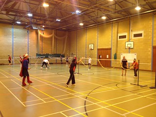 Our members competiting in our Christmas 2013 club tournament