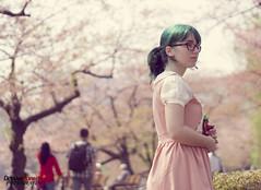 me & Tavo at Ueno Park (Tokyo) (nkawai) Tags: park flowers green japan hair cherry wonder tokyo wanda dress ueno blossom teal frog lolita alpine april sakura tavo tokio saku 2014