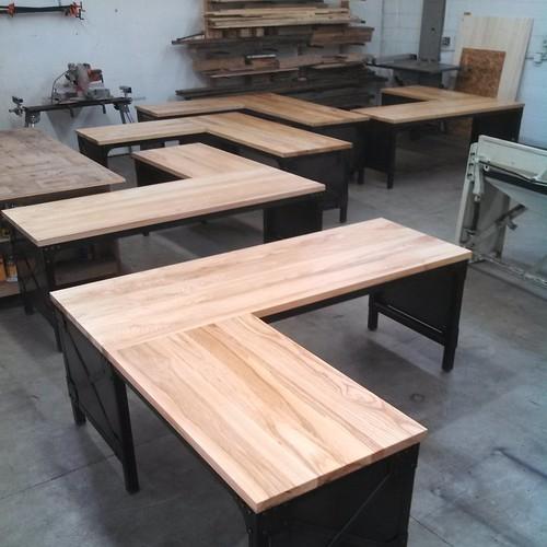 sea of ash desks custom desk industrial desk office furniture ash and build industrial furniture