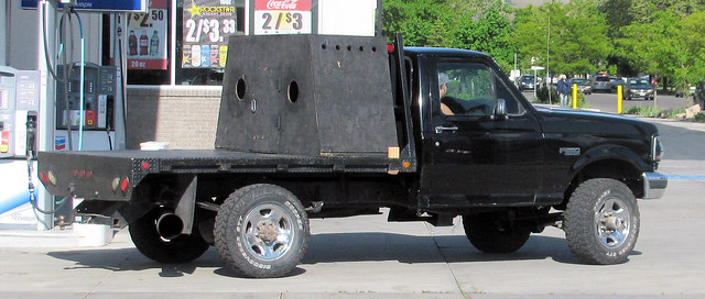 old black ford truck vintage shiny 4x4 diesel hunting pickup pickuptruck redneck 1990s madeinusa americanmade flatbed fourwheeldrive fomoco f250 worktruck huntingdogs farmtruck powerstroke 34ton eyellgeteven