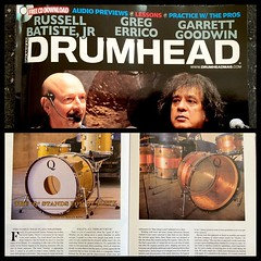 I have to say I'm pretty excited about this... Thank you @kkingme2003 for writing such an awesome article about Q. A lot of hours on the phone, shooting the shit, talking drums and drinking beer. Couldn't ask for much more. Go get this issue of Drumhead M