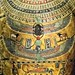 Closeup of paintings on the chest of the inner coffin of Meret-it-es Egypt Late Period to Ptolemaic Period 30th Dynasty to early Ptolemaic Dynasty 380-250 BCE Wood pigment gesso and gilding