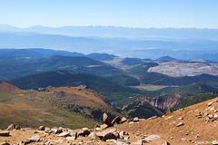 West from Pikes Peak (isaac.borrego) Tags: uploadedviaflickrqcom mountains peaks alpine tundra pikespeak frontrange rockymountains colorado canonrebelt4i
