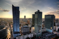 Warsaw aerial view #1 (Strocchi) Tags: warsaw hdr varsavia sunset tramonto canon eos6d 24105mm palackulturyinauki skyscraper grattacielo palazzodellaculturaedellascienza