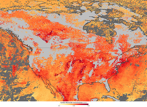 nasa pollution heat airquality wildfire carbonmonoxide goddardspaceflightcenter