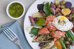 Salmon Nicoise Salad 01 (Damon Cowart) Tags: test food salad salmon