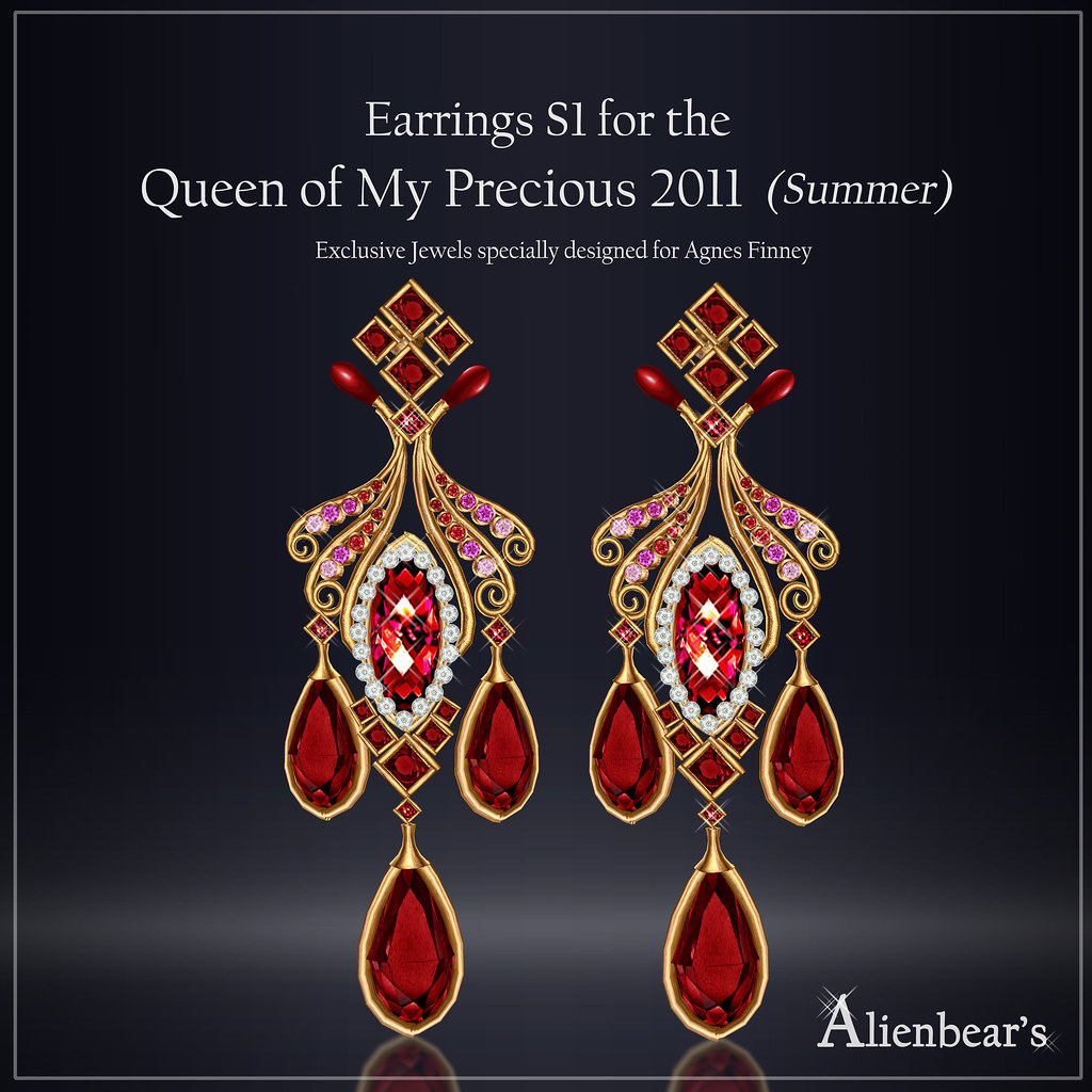 Earrings S1 for Queen of My Precious 2011 Summer