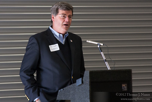 "RailAmerica COO Paul  Lundberg<br /><span style=""font-size:0.8em;"">RailAmerica's SVP and Chief Operations Officer Paul Lundberg addresses the guests at the CSOR shops.</span> • <a style=""font-size:0.8em;"" href=""http://www.flickr.com/photos/20365595@N04/6904690130/"" target=""_blank"">View on Flickr</a>"